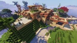 Frank Lloyd Wright Style Ocean Villa Minecraft Map & Project