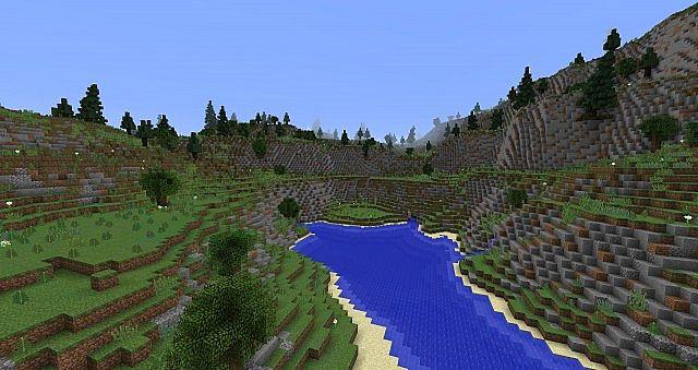 Evergreen hilltops
