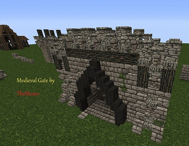 Small Medieval Gate Minecraft Project