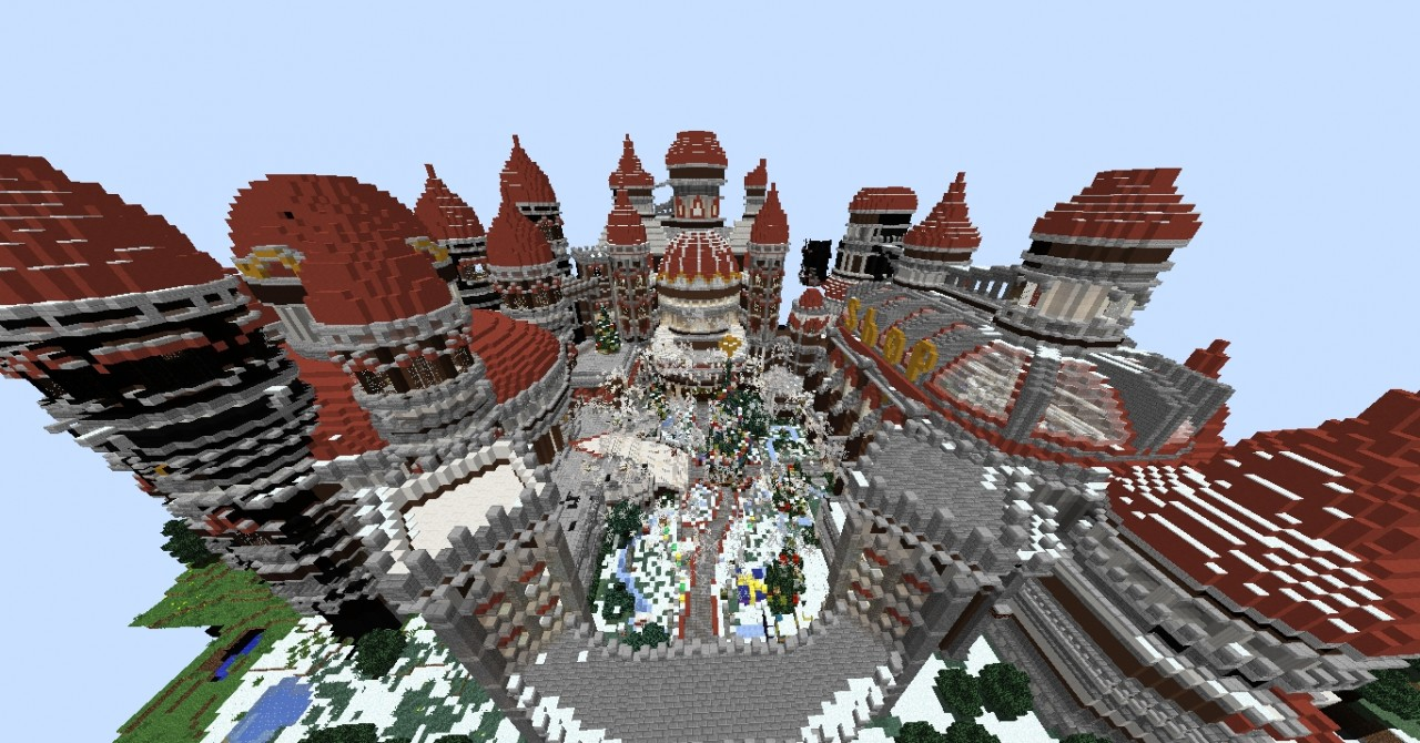 Christmas Minecraft World.Minecraft Server Spawn Christmas Minecraft Project