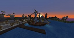 medieval harbour city Minecraft Map & Project