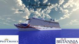 P & O Britannia 1:1 Scale Cruise Ship [+Download] [+Interior] Minecraft Map & Project
