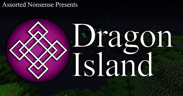 The big purple Dragon Island logo. I think theres a screenshot back there as well
