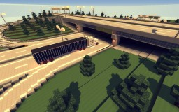 Cloverleaf Highway Intersection Minecraft Map & Project