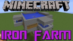 how to make AFK auto iron farm minecraft 1.8 & 1.8.1 Minecraft Map & Project