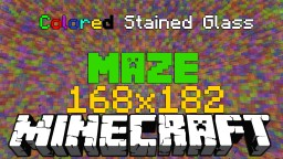 Color Stained Glass Maze (+DOWNLOAD) Minecraft Map & Project