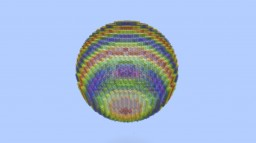 Rainbow Sphere Structure Minecraft Project