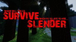 Survive Slender 1.11 (Slenderman Survival Minigame/Gamemode) Minecraft Project