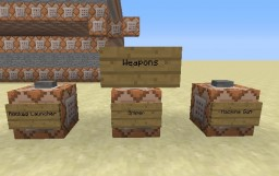 Weapons on Vanilla Minecraft (Guns) Minecraft
