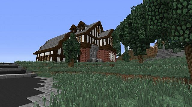 Tudor-style house Minecraft Project