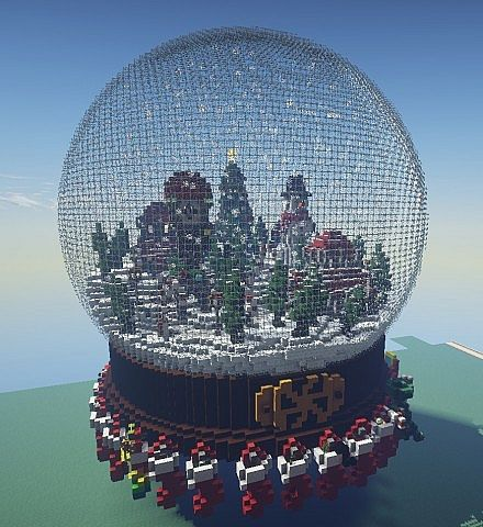 Holiday snow globe minecraft project holiday snow globe gumiabroncs Images