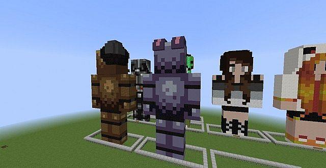 Bonnie fnaf statue minecraft project click for details bonnie fnaf