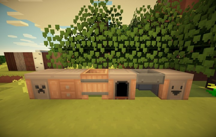 Matching crafting table, furnace, etc.
