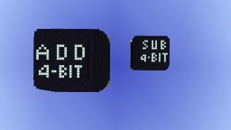 4 bit addition (V2) and subtraction (V1) modules for an ALU