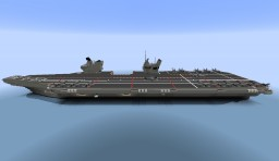 H.M.S Ark Royal (based on Queen Elizabeth class aircraft carrier) Minecraft Map & Project