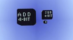 4-bit addition (V3) and subtraction(V2) module + Bonus randomness module (V1)