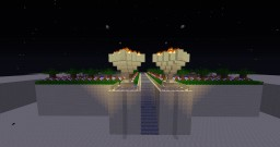Sandstone castle with a big garden Minecraft Map & Project