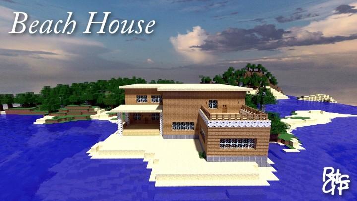 Beach House Survival Map 1 8 X Minecraft Map