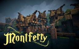 [MythiCubeMMO]: Montferry, the mining town of Rockstream River! Minecraft