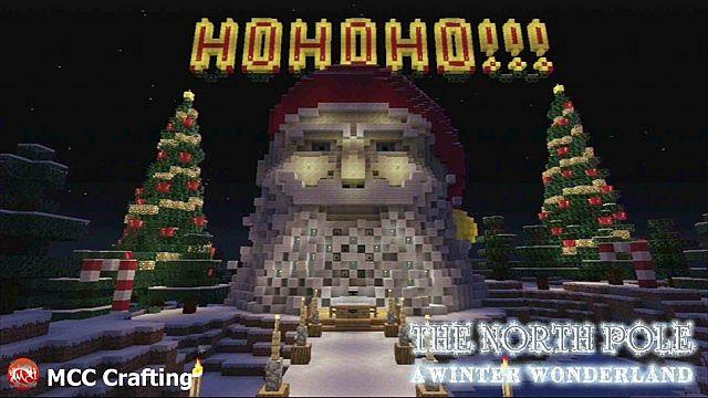 Meet Santa At The North Pole, A Winter Wonder Land, Minecraft PS3 Christmas World