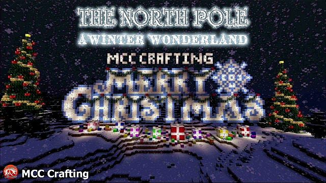 The North Pole, A Winter Wonder Land, Minecraft PS3 Christmas World. V1 2014