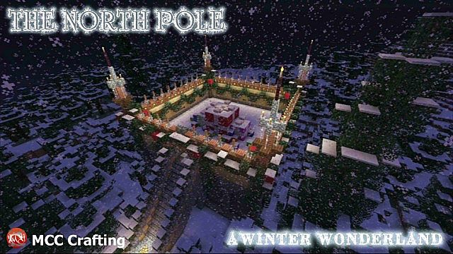 The North Pole Spawn Area, A Winter Wonder Land, Minecraft PS3 Christmas World