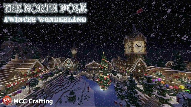 The North Pole Village North East, A Winter Wonder Land, Minecraft PS3 Christmas World