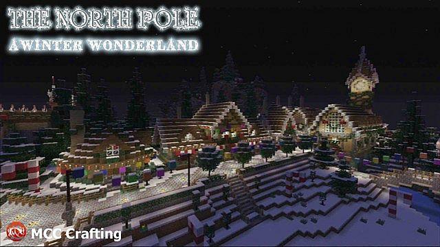 The North Pole Village West, A Winter Wonder Land, Minecraft PS3 Christmas World