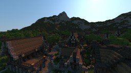 The Town Of Farinish - A Small Town Build Minecraft Map & Project