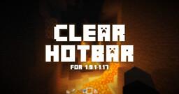 Clear Hotbar! [1.9.1-1.17] Minecraft Texture Pack