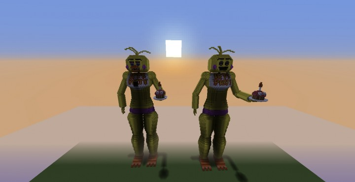Five nights at freddy s toy chica minecraft build minecraft project