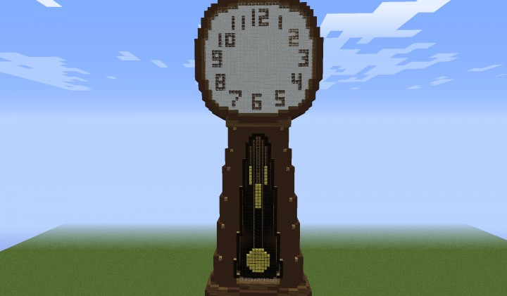 The winning build of the redstone competition 2014, a MC realtime clock!