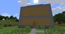 three story house with watchtower and mob spawner Minecraft Map & Project