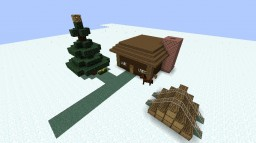Christmas Log House Minecraft Map & Project