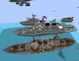 Massive Ocean Fleet Minecraft Map & Project