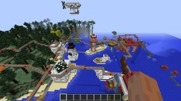 Custom world [with cities, funny things and secret areas] Minecraft Map & Project