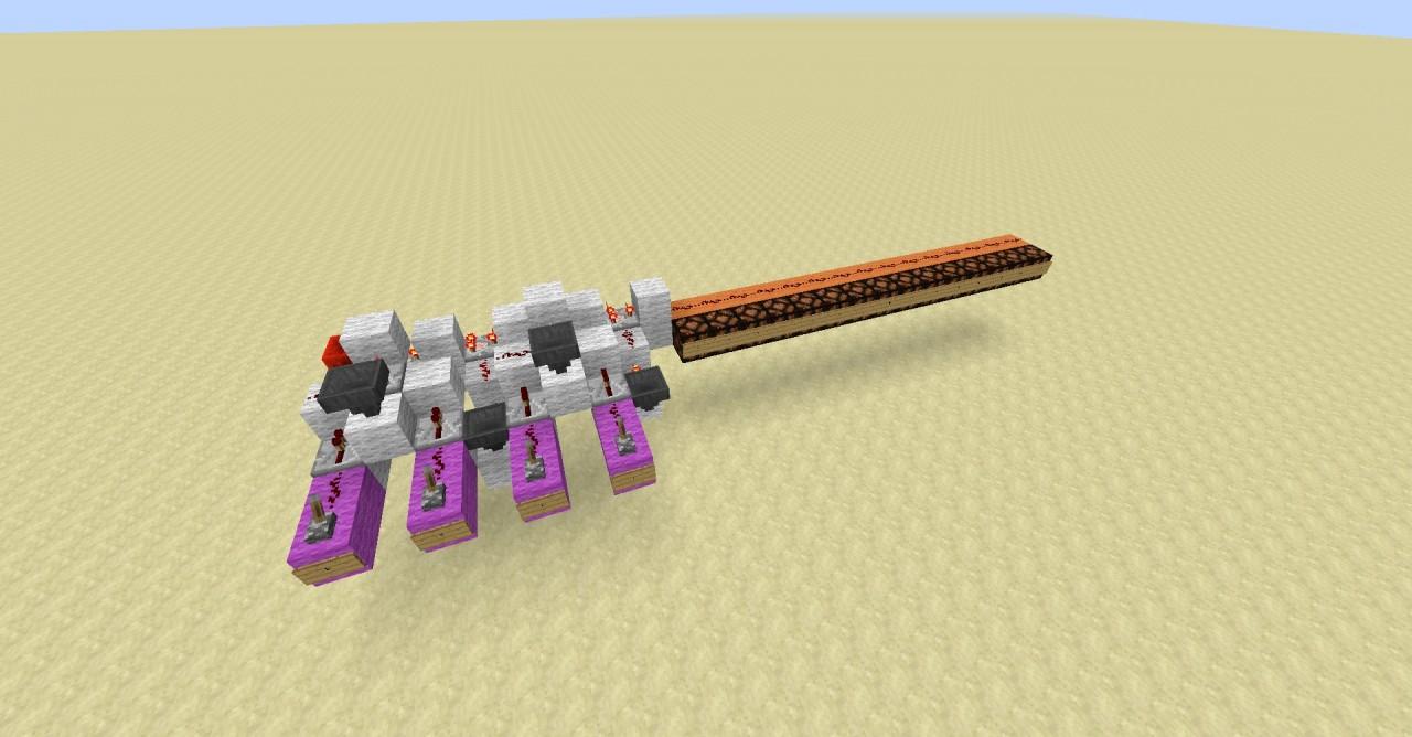4 Bit Binary to Hexadecimal Converter Minecraft Project