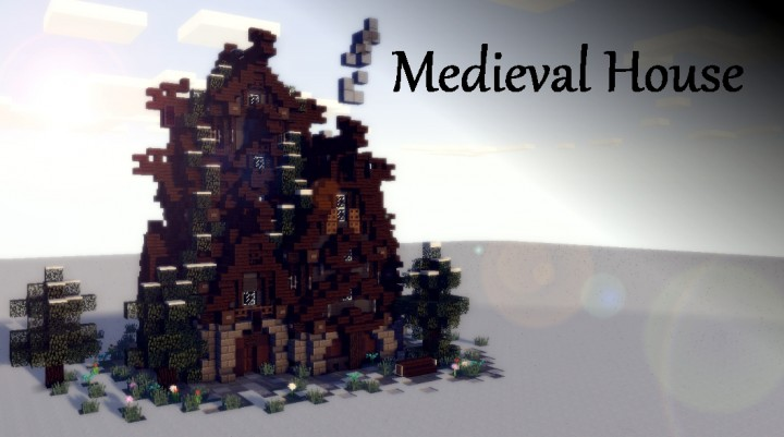 Minecraft Christmas Houses.Medieval Christmas House Download Minecraft Project