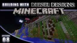 EP8: Building Bridges & Breaking Walls! Building with Diesel! (Minecraft Modded Survival)