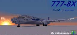 Boeing 777-8X   ANA Livery Minecraft Map & Project