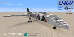 Bombardier Dash 8 Q400 with (StarAlliance)SAS Livery Minecraft Map & Project