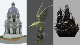 Fantasy Collection (Download All Builds Here) Minecraft Map & Project