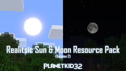 Realistic Sun And Moon Minecraft Texture Pack