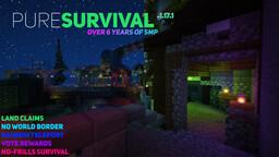 PureSurvival - [ SMP || 1.17.1 || Land Claims || Random Teleport || 6+ Years Online! ] Minecraft Server