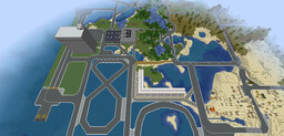 Miles of roads and race tracks Minecraft Map & Project