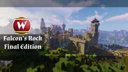 Falcon's Rock - A great realistic medieval world (fully furnished) MC 1.16.5 - file size 810 MB Minecraft Map & Project