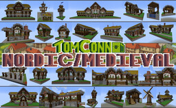 Medieval / Nordic House Bundle - 1.17.1+ - 60+ Free to use houses! Minecraft Map & Project