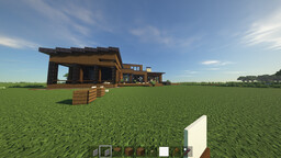 Riverfront modern home realistic recreation Minecraft Map & Project