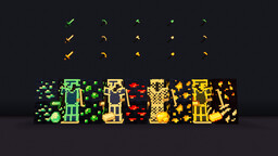 Glazer Vanilla (1.17+) v1.3   Glow in the Dark texture pack   Glowing items, ores, armors and more! Minecraft Texture Pack