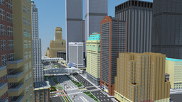 1:1 Manhattan 2001, (World Trade Center). [FROZEN] Minecraft Map & Project